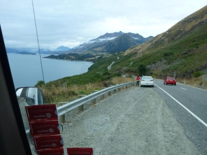 Queenstown-Glenorchy road along Lake Wakatipu